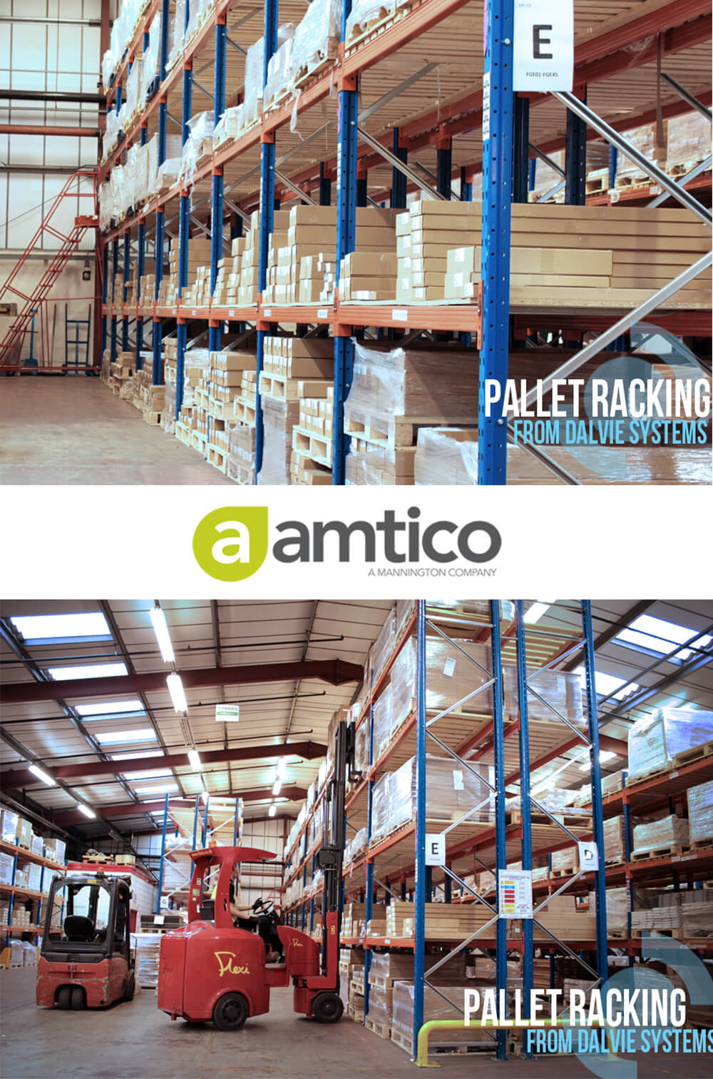 Warehouse Pallet Racking for Amtico Flooring