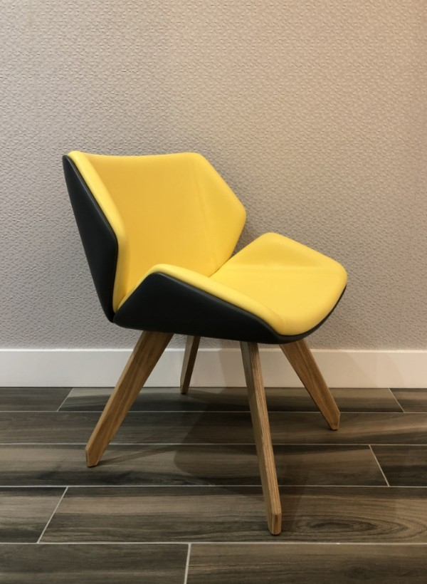 black and yellow chair